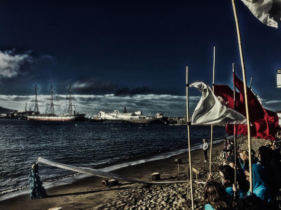 Inkboat, Anna Halprin, Rituals, dance, Hyde Street Pier, San Francisco Maritime, site specific