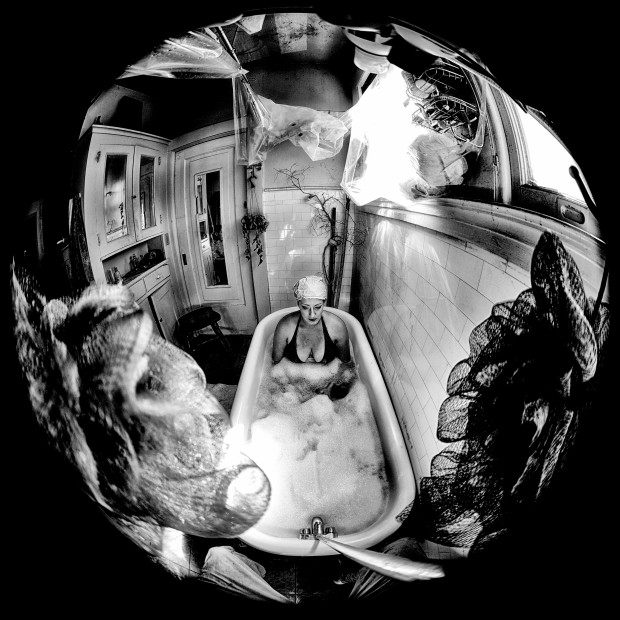 environmental theatre, Cloud Talk, artist weather, bathtub, Rebecca Ormiston, clouds, bubbles, bubble bath, bathroom, clouds, meteorology